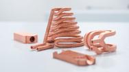 Der Druck von Reinkupfer ist zum Beispiel für den Maschinen- und Anlagenbau interessant.