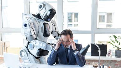 Roboter KI Büro