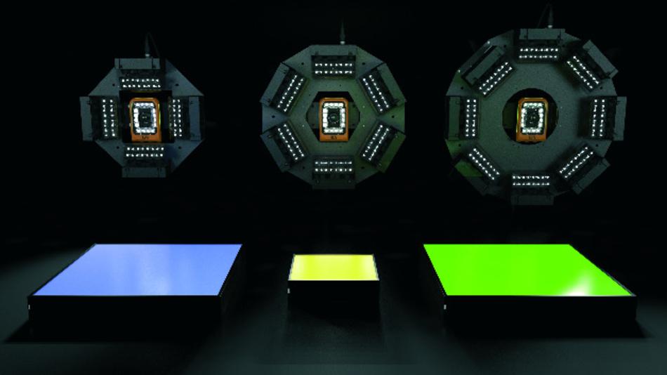 Zum integrierten Vision-System von B&R gehören auch kameraexterne Beleuchtungen.