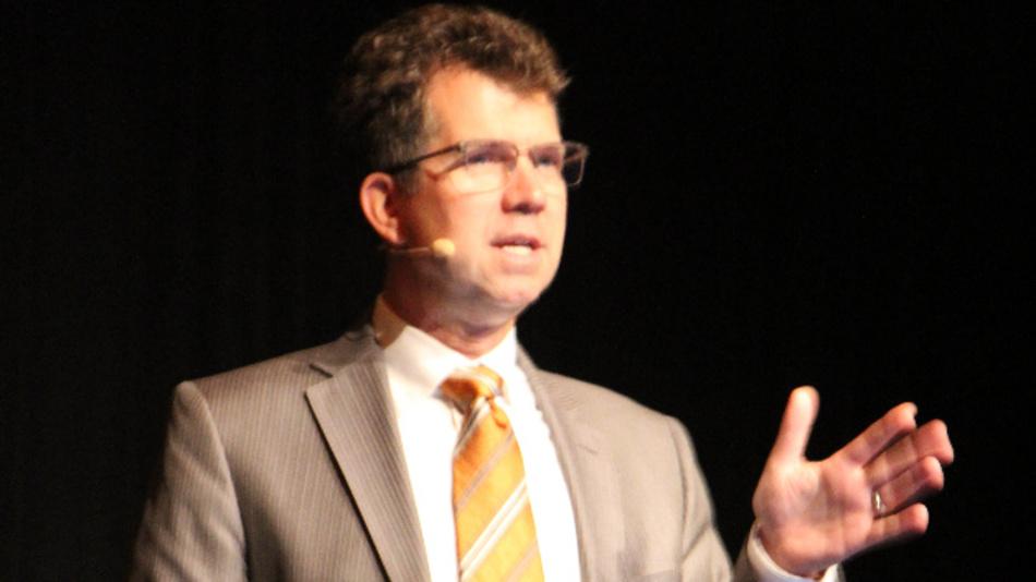 Jeff Welser von IBM Research in Almaden gab einen Ausblick, wie zukünftige Rechner-Architekturen für Künstliche Intelligenz aussehen könnten.