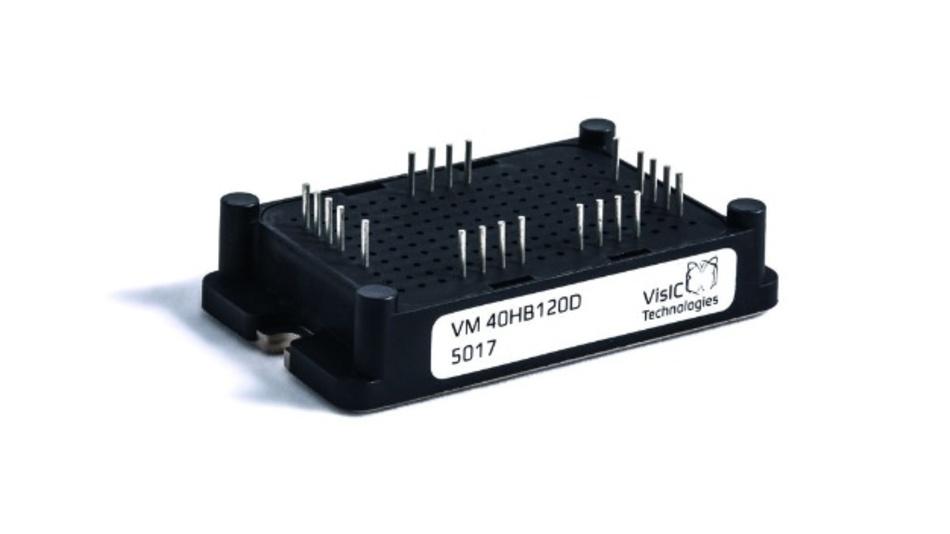 Bild 1: Das 1200-V-Halbbrückenmodul von VisIC Technology basiert auf GaN-Transistoren.