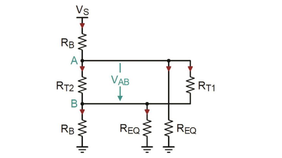 Bild 2: Vereinfachtes Ersatzschaltbild der Schaltung aus Bild 1 für ein einfach ausfallsicheres Biasing.