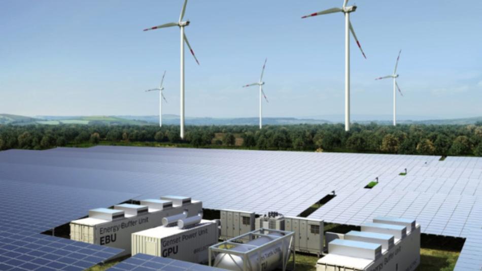 Hybridkraftwerke werden in Zukunft Regelaufgaben im Stromnetz übernehmen.