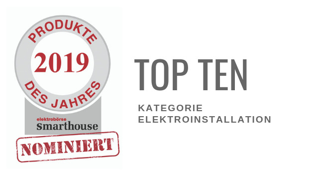 Produkte des Jahres 2019: Top Ten Elektroinstallation