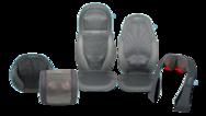"""Garantieren Entspannung nach einem anstrengenden Tag: die Gel-Shiatsu-Massagesitzauflagen """"SGM-1600H-EU"""" und """"SGM-1300H-EU"""", die Gel-Shiatsu-Massagekissen """"SGP-1500H-EU"""" und """"SGP-1100-H-EU"""", das Gel-Shiatsu-Fußmassagegerät """"GSF-500H-EU"""" und das Gel-S"""