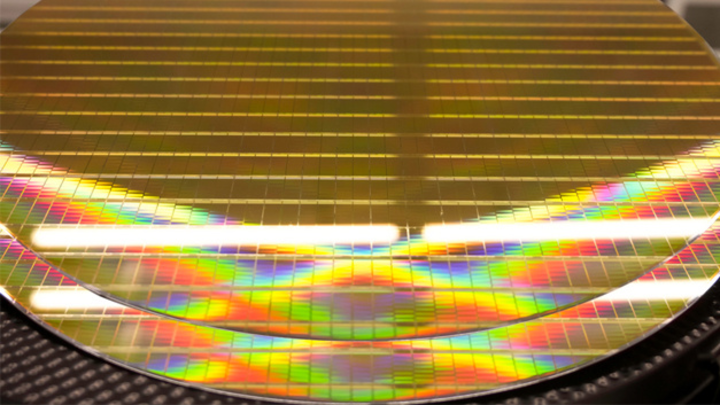 Silizium-Wafer in der Chip-Fertigung