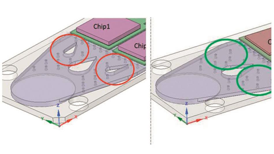 Bild 5: Das Tropfendesign (links) war der erste Optimierungsschritt, das Säulendesign (rechts) der nächste.