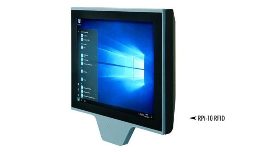 """10""""-Raspberry-Pi-System mit RFID-Reader für drahtlose Datenerfassung"""