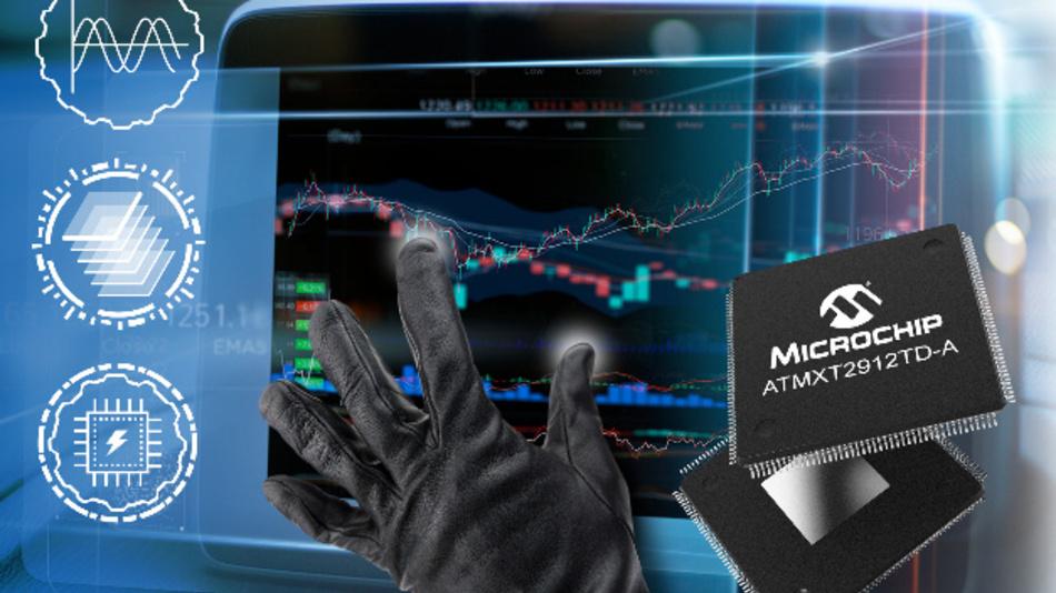 Die neuen Touchscreen-Controller von Microchip erlauben Multi-Finger-Touch – sogar durch dicke Handschuhe und bei Feuchtigkeit.