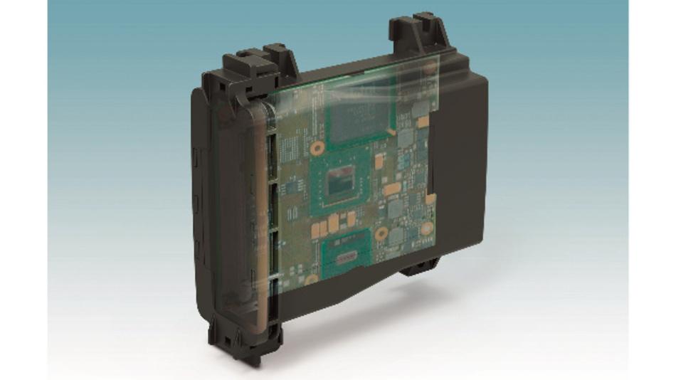 Bild 1: In rauen Umgebungsbedingungen eignen sich widerstandsfähige und wasser- dichte Gehäuse aus UV-stabilisiertem Polycarbonat.