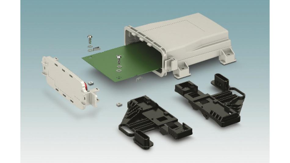 Bild 3: Leiterplattenstopper, Druckausgleichsmembran und Mastbefestigung sorgen für eine sichere Inbetriebnahme und einen störungsfreien Dauerbetrieb.