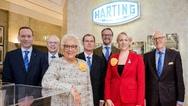 v.l.n.r.: Andreas Conrad, Dr. Michael Pütz, Margrit Harting, Dr. Frank Brode, Philip Harting, Maresa Harting-Hertz und Dietmar Harting.