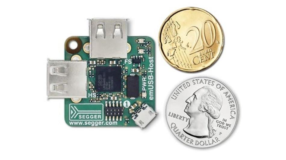 Entwicklungsboard emPower-USB-Host von Segger.