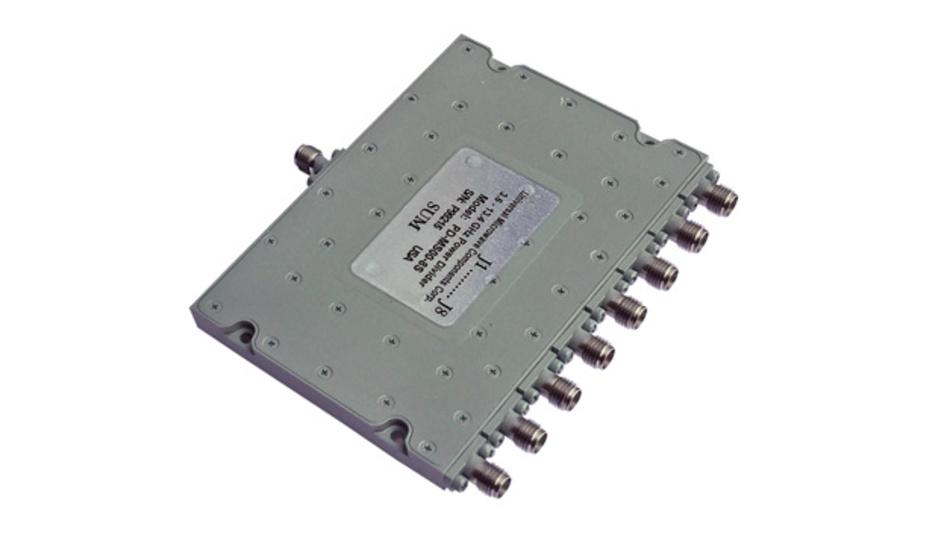 8-Weg-Leistungsteiler mit einem Frequenzbereich von 3,6 bis 13,4 GHz