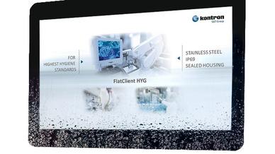 Panel-PC FlatClient HYG für hygienisch sensible Anwendungen