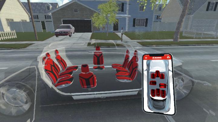 Sitzkonzept Magna autonomes Fahren