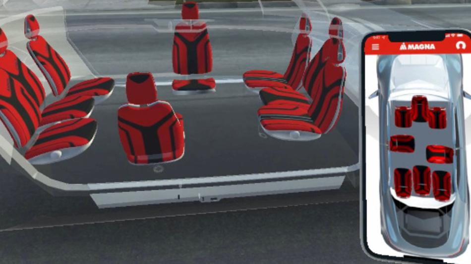 Magna entwickelt konfigurierbare Sitze für einen großzügigeren Kabinenraum und ein verbessertes Benutzererlebnis.