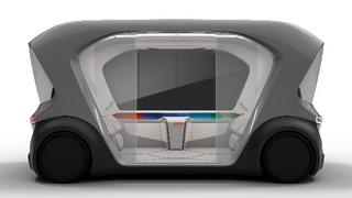 Seitenansicht des Shuttle-Konzeptfahrzeugs von Bosch.