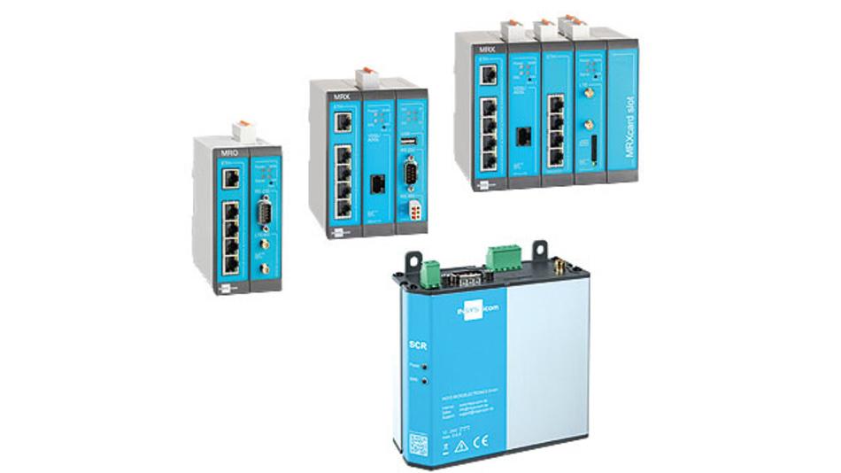Bild 1. Die Router von Insys bündeln nicht nur die Daten mehrerer Sensoren oder Maschinen, sondern übernehmen auch eine Vorverarbeitung, um das Datenvolumen in die Cloud zu verringern.