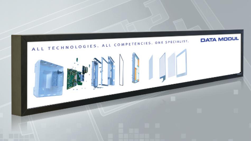 Das »ultra streched« TFT-LCD von Innolux gibt es auch als Schlüsselfertiges Display-System vom Systemanbieter Data Modul.