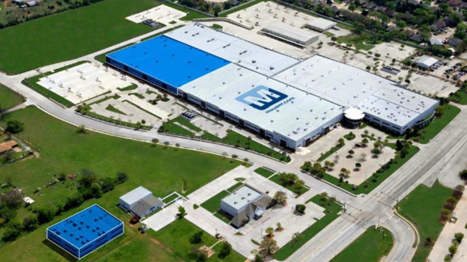 Mouser baut derzeit seine Lagerkapazitäten am Unternehmenssitz im texanischen Mansfield (blaue Gebäude) aus.