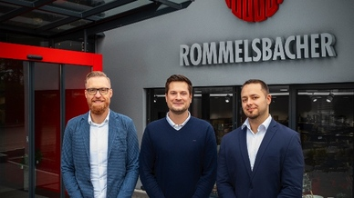 Oliver Hawner, Sebastian Ullmann und Benjamin Blumenstock (v.l.n.r) sind neu an Bord bei Rommelsbacher.