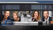 Von rechts nach links: Nathalie Brandenberg (SB), Sarah Heub (CSEM), Sylke Hoehnel (SB) und Gilles Weder (CSEM)