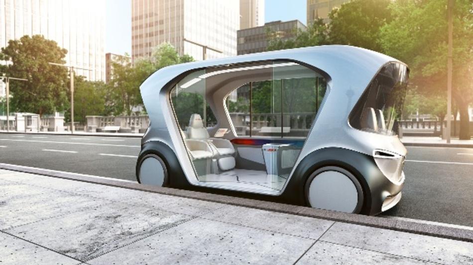 Bosch stellte auf der CES zusammen mit Daimler ein Konzeptfahrzeug für ein autonomes Shuttle vor.