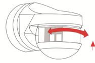 Bild 2: Unerwünschte Bereiche kann man bei Bewegungsmeldern mit Abdecklamellen ausblenden.