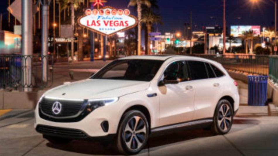 Der neue Mercedes-Benz EQC feiert auf der CES 2019 in Las Vegas seine US-Premiere.