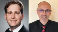 Ronny Weber (li.),Produkt-Management Überspannungsschutz, und Martin Hochstein, Produkt-Marketing Überspannungsschutz (beide ABB STOTZ-KONTAKT GmbH).