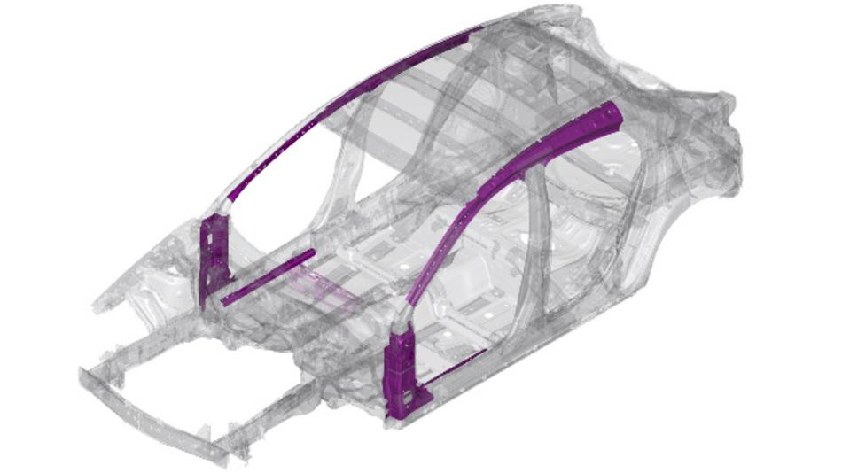 Die neue Skyactiv-Vehicle Architektur von Mazda besteht auch aus kaltumgeformten Karosserieteilen mit einer Zugfestigkeit von 1.310 MPa.