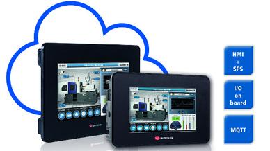 Trotz ihrer Kompaktheit bieten die Panel-PCs der Serie »UniStream« von Unitronics, erhältlich bei Spectra, Touch-HMI, SPS und analoge E/A.