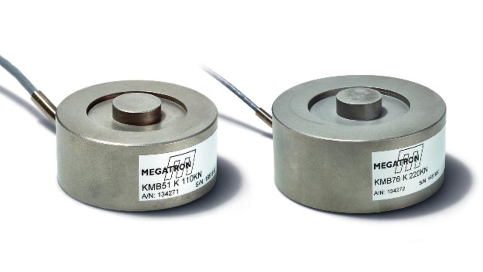 Die Sensoren KMB51 und KMB76  nehmen Kräfte bis zu 220 kN auf und werden schon ab kleinen Stückzahlen kundenspezifisch konfektioniert.