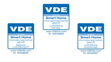 Das Smart-Home-System LUXORliving von Theben ist durch den VDE zertifiziert.