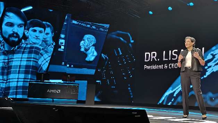 Dr. Lisa Su, President und CEO von AMD, in ihrer Keynote auf der CES: »Wir lieben Gamer«.