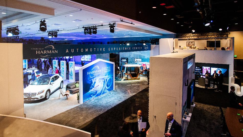 Harman präsentierte die neuen Produkte während der CES 2019 im Hard Rock Hotel in Las Vegas.