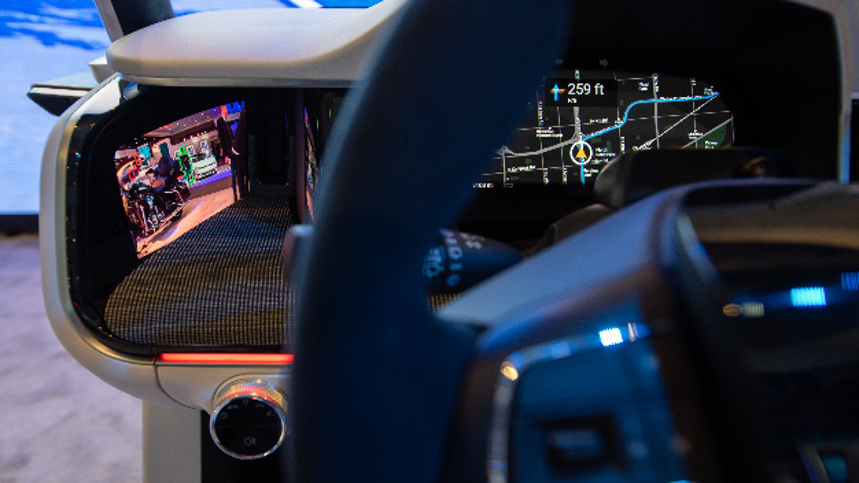 Das Kameraüberwachungssystem realisiert Sicherheitstechniken wie beispielsweise Toter-Winkel-Assistent.