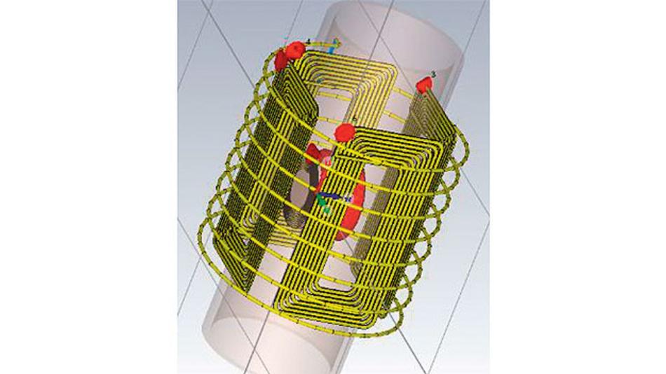 Bild 2. Durch ausgeklügelte Formgebung der Ladespulen wird in jeder Ausrichtung eine Spannung induziert.