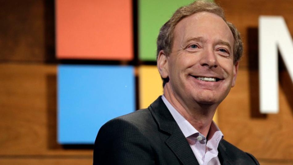 Brad Smith, Präsident und Chief Legal Officer von Microsoft. Der Konzern nimmt 500 Millionen Dollar in die Hand, um für günstigeren Wohnraum in der Nähe seines Hauptquartiers bei Seattle zu Sorgen.