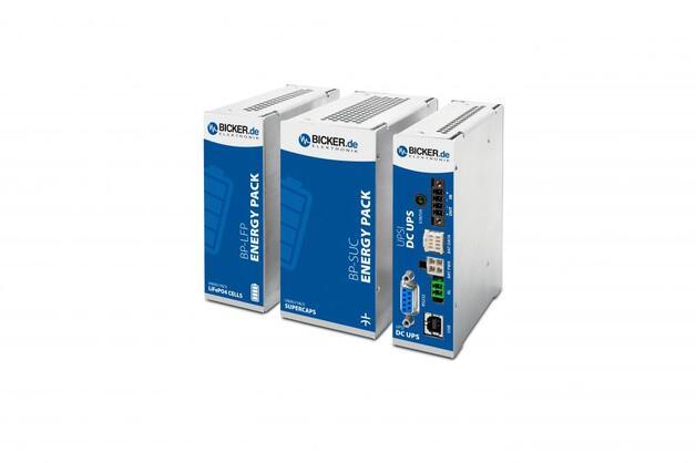 Für Anwendungen mit größerem Energiebedarf eignen sich modulare DC-USV-Systeme. Bicker Elektronik bietet neben Open-Frame-Lösungen auch modulare DIN-Rail-Versionen.