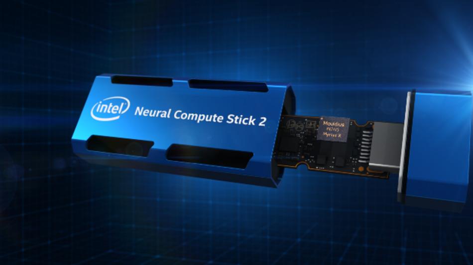 Der Intel Neural Compute Stick 2 wurde speziell für das Prototyping am Netzwerkrand und intelligente KI-Algorithmen entwickelt.