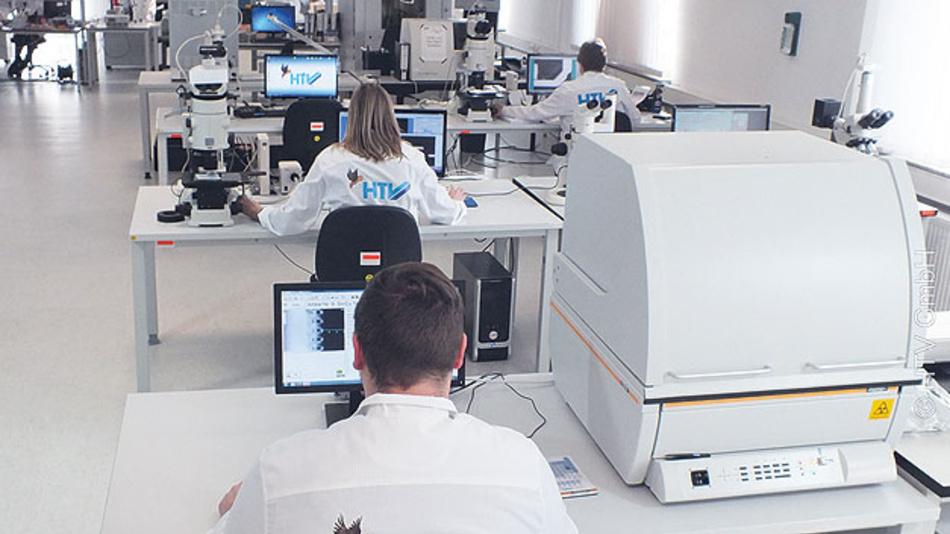 Bild 1. Einblick »HTV-Institut für Materialanalyse«.