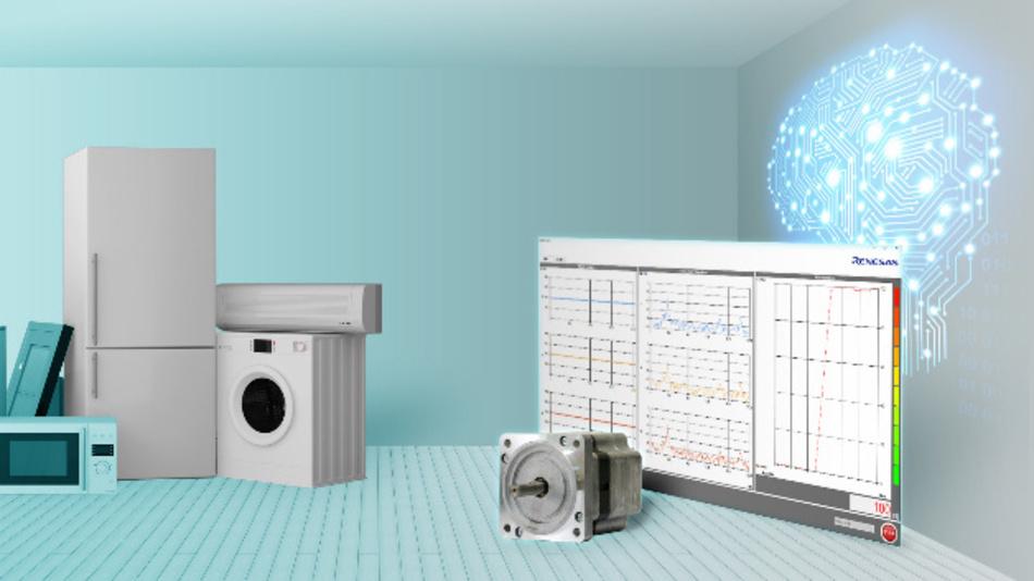 Renesas Electronics vereinfacht mit einer e-AI-Lösung zur Fehlererkennung die Wartung von motorbetriebenen Haushaltsgeräten.