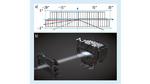 Sichtfeld (a) der 84 LED-Pixeleinheit mit Primäroptik (b), die die untere und obere LED-Reihe vertikal streckt.