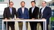 Solutions-Team 2015: Harry Mayr, Stefan Theiler, Jürg Müller und Damian Gamma. Mittlerweile hat sich die Crew mehr als verdoppelt (v.l.n.r.)