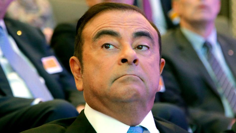 Carlos Ghosn, früherer Verwaltungsratschef des Renault-Partners Nissan, während einer Pressekonferenz.