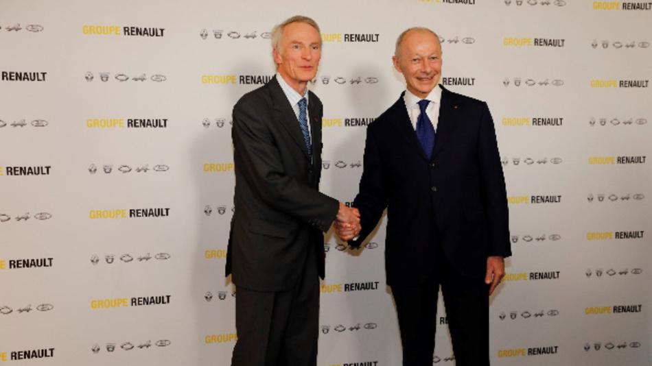 Jean-Dominique Senard (links), Präsident des Verwaltungsrates von Renault und Thierry Bolloré, der künftig für das operative Geschäft von Renault zuständig ist. Sie folgen dem zurückgetretenen Carlos Ghosn nach.