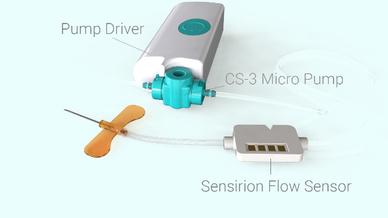 Der LD20 ist Teil der tragbaren IoT-Medikamentenverabreichungsplattform Quantex 4C.