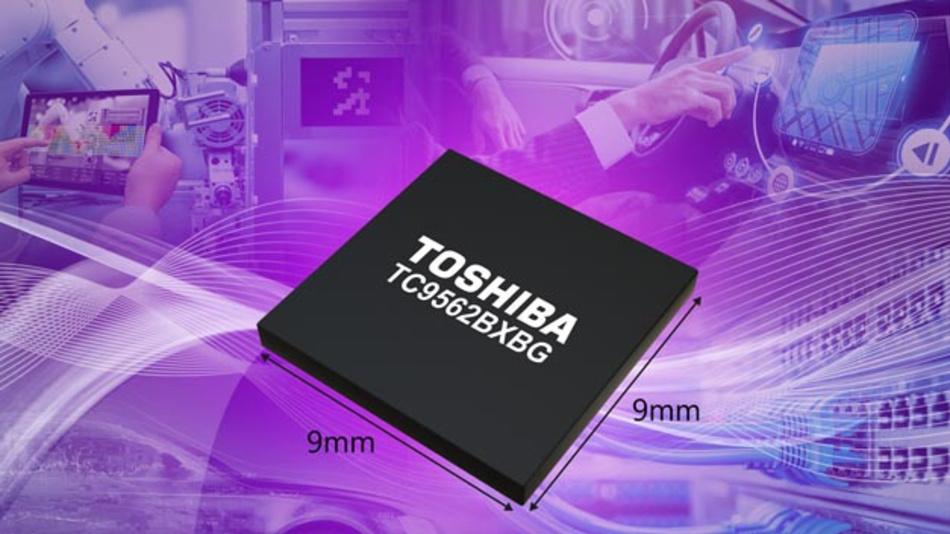 Die neue Bridge-IC-Serie TC9562 von Toshiba unterstützt das Time-Sensitive-Networking-Protokoll und Ethernet  Datenübertragungsraten von bis zu 1Gbit/s